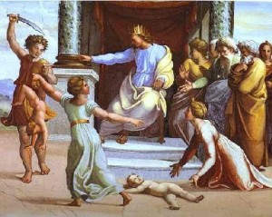 Judgemnt of Solomon by Raphael(1)